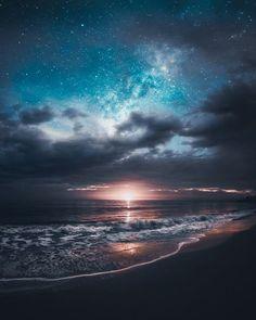 Imagem de beach, sky, and beautiful