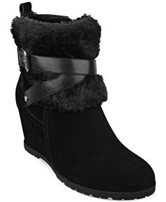 Marc Fisher Trevis Faux-Fur Booties