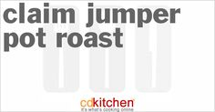 Made with , chuck roast, carrots, turnips, sweet potatoes, onion, herb gravy, beef stock/beef au jus, olive oil, garlic, shallot, fresh herbs, beef gravy | CDKitchen.com