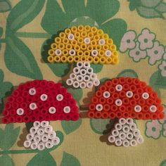 Mushrooms hama beads by pysselraven