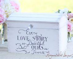 Wedding Card Box Shabby Chic Decor Vintage by braggingbags on Etsy, $125.00