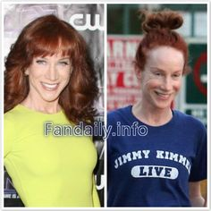 celebs without makeup before and after | Celebrities Without Makeup: Kathy Griffin Without Makeup Before and ...