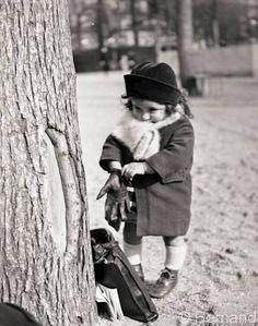 Child Playing in Paris 1939-1945