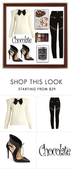 """Chocolate 🍫"" by a-braizat on Polyvore featuring Yves Saint Laurent, Givenchy, Christian Louboutin and Bobbi Brown Cosmetics"