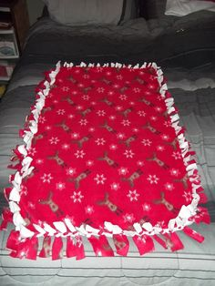Fleece tie blankets - pretty much a staple at my house :)