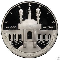 1984-S-Los-Angeles-Olympics-Proof-Commemorative-90-Silver-Dollar-US-Coin