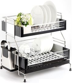 Cuisinart Dish Rack Custom Buy Home Dish Rack With Drainer  Chrome At Argoscouk Visit Argos Design Ideas