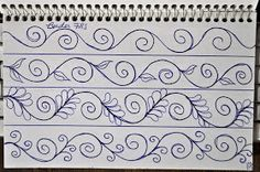 New sewing machine drawing sketch books free motion quilting ideas Crazy Quilting, Longarm Quilting, Free Motion Quilting, Machine Quilting Patterns, Quilt Patterns, Arte Mehndi, Sewing Machine Drawing, Quilting Stencils, Quilt Border