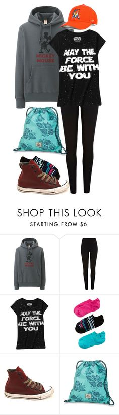 """""""Lazy Day"""" by eveningouttoyourgrave on Polyvore featuring Uniqlo, River Island, HUE, Converse, Dakine and '47 Brand"""