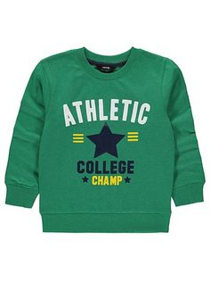 Athletic Print Sweatshirt, read reviews and buy online at George at ASDA. Shop from our latest range in Kids. Little champs-in-training will love…