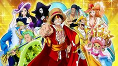 luffy and his crew,the straw hats from one piece One Piece Équipage, One Piece Movies, One Piece Episodes, One Piece Luffy, One Piece Intro, Anime One, Manga Anime, The Pirate King, Strong Character