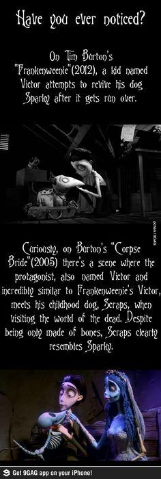 Tim Burton's characters - movies, tim burton, frankenweenie, corpse bride, funny, lol