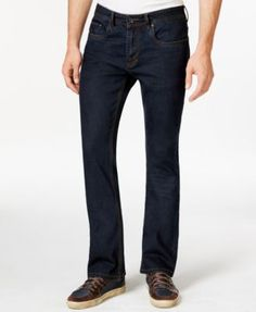 Buffalo David Bitton King X Slim-Fit Bootcut Intensely Dark Wash Stretch Jeans