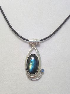 Sterling Silver Labradorite Necklace with London Blue Topaz- Holiday Gift by CopperfoxGemsJewelry on Etsy https://www.etsy.com/listing/253501487/sterling-silver-labradorite-necklace