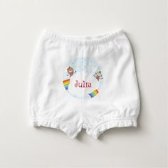 Kids Rainbow Cloud Red Yellow Purple Blue Diaper Cover - girl gifts special unique diy gift idea