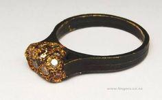 Karl Fritsch; Oxidised 18ct gold, diamonds,  2006