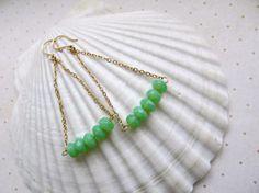 BoHo earrings Apple Green earrings by HappyTearsbyMicah on Etsy, $15.00