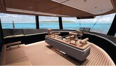 Explore NAUCRATES 88 yacht for sale; through beautiful photos and a full walk-through description of this impressive Ocean King Expedition Yacht. Expedition Yachts, Explorer Yacht, Yacht For Sale, Yacht Design, Outdoor Furniture, Outdoor Decor, Concept Cars, Exterior Design, Deck