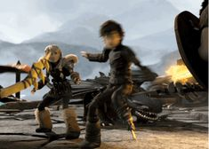 how to train your dragon 2 - Hiccup defending Astrid and Toothless