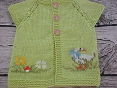 Hand-knitted baby cardigan with applicationknit baby от AnaSwet