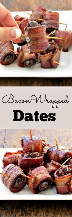 Bacon Wrapped Dates | Lou Lou Biscuit