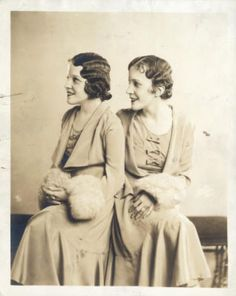 The real Daisy and Violet Hilton, conjoined twins, are shown in a 1933 photo.