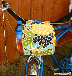 MadeByMarzipan's Cycle Satchel is a useful bag for your bike! Pack a water bottle in one side pocket, and your phone in the other. There's even room for your lunch! Fits child or adult bikes.    Supplies