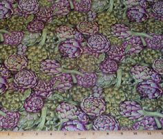 Artichokes Cook Food Veggies Makower UK Fat Quarter Fabric Quilting Cotton | eBay