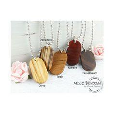 DogTag+Halskette+Holz+Amulett+Kette+Holzkette+von+Holz+-+Design+auf+DaWanda.com