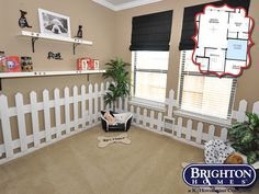 #dogthemed sitting room located right off the master bedroom in our Stanley Model Home | Brighton Homes® | www.brightonhomes.com