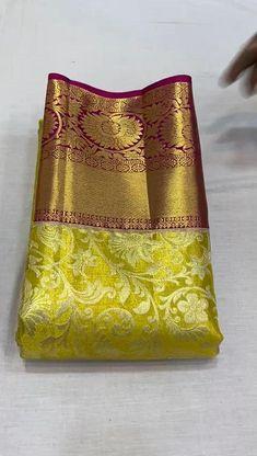 Pattu Sarees Wedding, Wedding Saree Blouse Designs, Bridal Silk Saree, Silk Saree Blouse Designs, Kanjivaram Sarees Silk, Kanchipuram Saree, Saree Tassels Designs, Silk Sarees With Price, Wedding Saree Collection