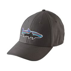 839b709551d30 Patagonia Fitz Roy Tarpon Stretch Fit Hat Forge Grey