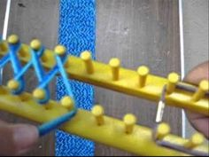 Learn how to loom knit a scarf with this easy tutorial by Fayme Harper. This particular scarf was created for the Special Olympics. This easy knitting tutori. Loom Scarf, Loom Knitting Stitches, Knifty Knitter, Loom Knitting Projects, Yarn Projects, Tube Scarf, Knitting Tutorials, Knitting Videos, Finger Knitting