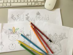 The beginning of our logo idea. Lots of scribbles and ideas before we were happy with it. Learning Through Play, Early Childhood, The Fosters, Ivy, Logo, Paper, Handmade, Ideas, Logos