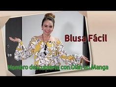 DIY Blusa Fácil Hombro Descubierto con Olán en Manga Easy shoulder blouse with olan in sleeve - YouTube