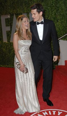 Pin for Later: 66 Celebrity Couples You Most Definitely Forgot About Jennifer Aniston and John Mayer Jennifer and John debuted their love on the red carpet in February 2009, but broke up shortly after.
