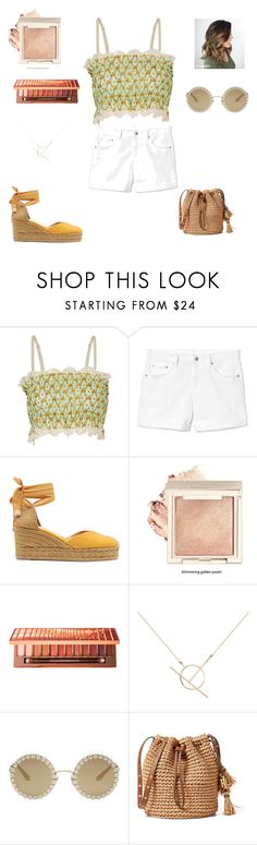 """""""Untitled #420"""" by bohocacti ❤ liked on Polyvore featuring Just Cavalli, Gap, Castañer, Urban Decay, A Weathered Penny and Dolce&Gabbana"""
