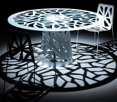 Perforated Furniture in Contemporary Style - Domino by Esedra