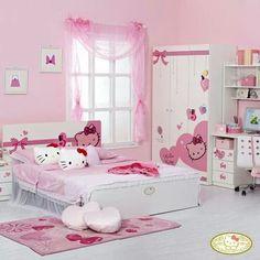 Hello Kitty Bedroom Pink Bedrooms S Decor Fun Room
