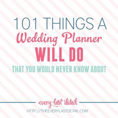 A Wedding Planner Do