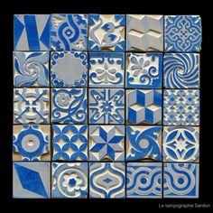 Inking-pad with cement tiles patterns Le Tampographe Sardon