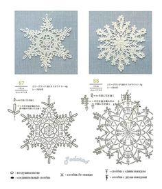 beautiful crochet snowflake - no pattern Crochet Snowflake Pattern, Crochet Stars, Crochet Motifs, Crochet Snowflakes, Thread Crochet, Diy Crochet, Crochet Doilies, Crochet Flowers, Crochet Stitches