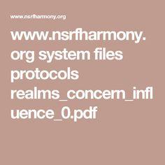 www.nsrfharmony.org system files protocols realms_concern_influence_0.pdf