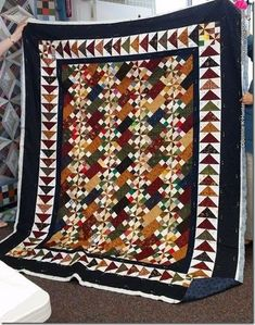 Old Tobacco Road, from the old mystery section at the bottom of the free patterns tab http://quiltville.blogspot.com