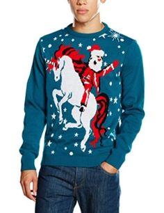 Weihnachtspullover Einhorn Santa, Unicorn