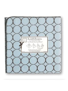Our best selling blanket -SwaddleDesigns - Ultimate Receiving Blanket - Pastel Blue with Brown Mod Circles #BabyGift