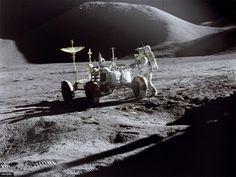 Spaziergang auf dem Mond