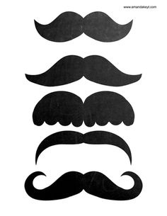 Mustaches from Pastels Chalkboard Birthday Printable Photo Booth Prop Set