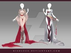 (CLOSED) Adoptable Outfit Auction 138-139 by Risoluce.deviantart.com on @DeviantArt by oldrose