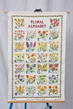 Vintage Floral Wall Hanging